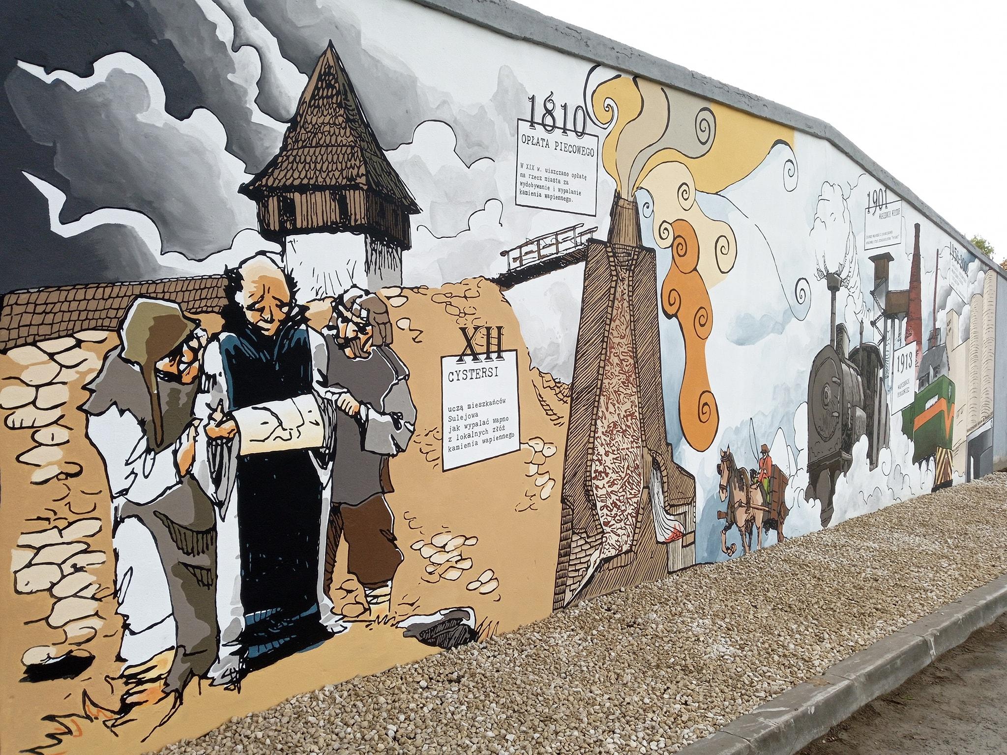 """Photo of W Sulejowie mają """"wapienniczy"""" mural"""