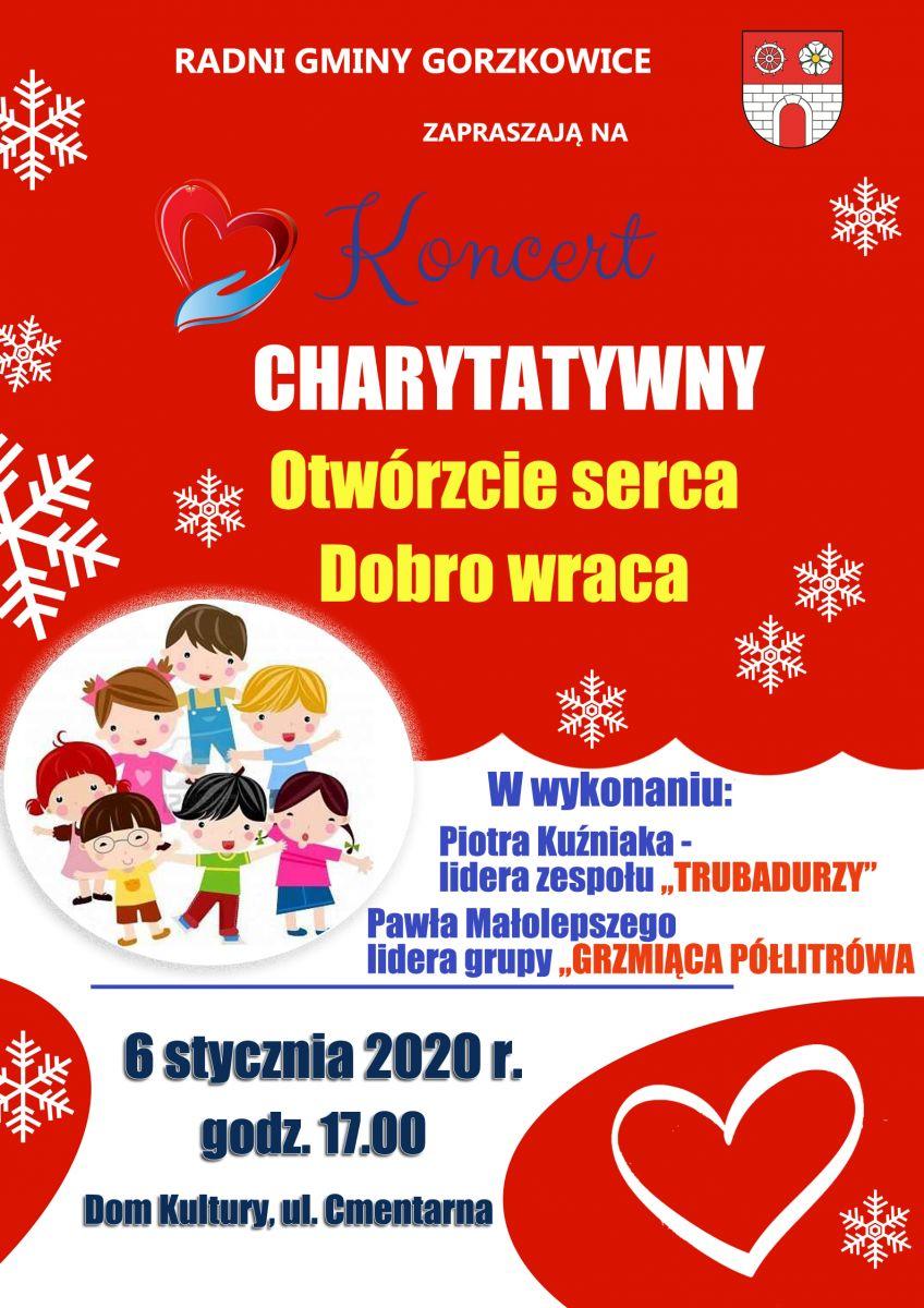 Photo of Gorzkowice: Zaproszenie na koncert charytatywny