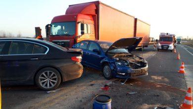 Photo of Wypadek na A1. Jedna osoba została ranna