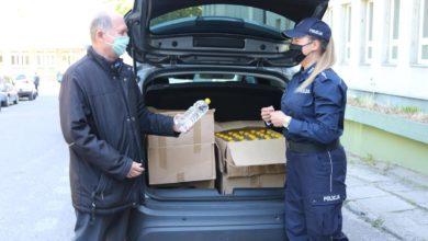 Photo of Ponad 150 litrów spirytusu przekazała szpitalowi piotrkowska skarbówka i policja