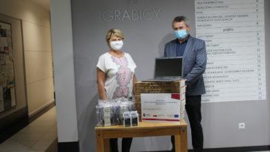Photo of Nowe komputery dla uczniów z gminy Grabica