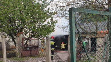 Photo of Pożar szopy przy ulicy Przemysłowej [FILM, ZDJĘCIA]