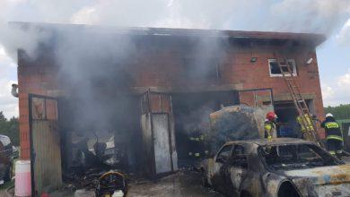 Photo of Pożar w warsztacie w Kałku