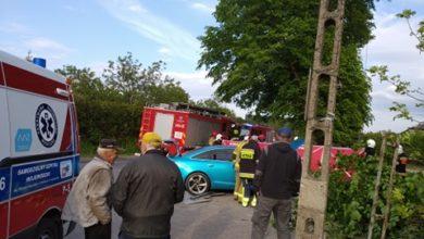 Photo of Kolizja w Polichnie, wypadek w Biskupiej Woli. W akcji śmigłowiec LPR