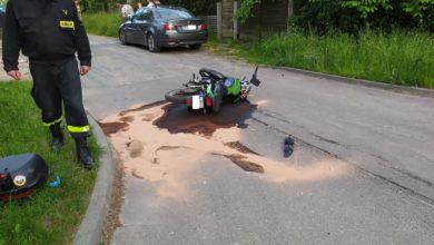 Photo of Wypadek motocyklisty w Piotrkowie. Na miejscu helikopter LPR [ZDJĘCIA, FILM]
