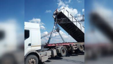 Photo of Ciężarówka uszkodziła bramownicę viatoll. A1 całkowicie zablokowana