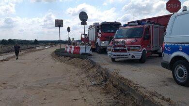 Photo of Wypadek na budowie A1. Na miejscu helikopter LPR