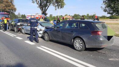 Photo of Zderzenie 4 pojazdów na DK12 w Poniatowie