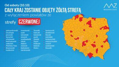 Photo of Od soboty miasto Piotrków Trybunalski w czerwonej strefie, powiat pozostaje w żółtej