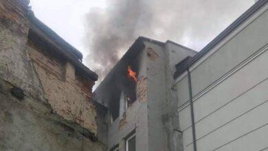 Photo of Pożar w kamienicy przy Starowarszawskiej w Piotrkowie