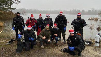 Photo of Pod wodą też są Mikołaje!