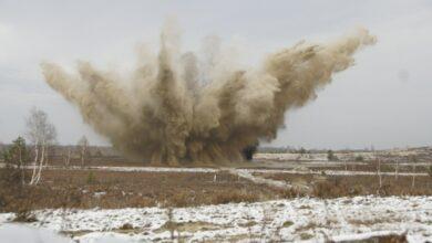 Photo of Film z detonacji niewybuchów wyłowionych z Pilicy