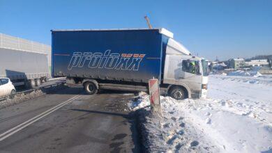 Photo of Ciężarówka zablokowała A1