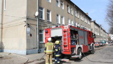 Photo of Pożar w mieszkaniu przy ulicy Okrzei