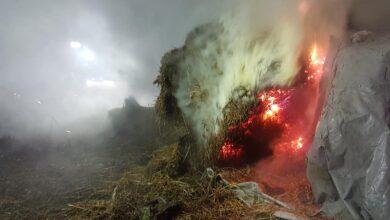Photo of Pożar balotów słomy