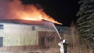 Photo of W Moszczenicy palił się pustostan – FILM
