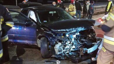 Photo of Kolizja na S8. Audi wpadło na bariery
