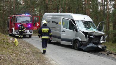 Photo of Czołowe zderzenie minibusów