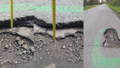 Photo of Gigantyczna dziura w jezdni