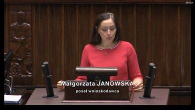 Photo of Posłanka okręgu 10. Małgorzata Janowska, odchodzi z PiS