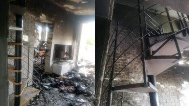 Photo of Pożar w mieszkaniu przy Leonarda w Piotrkowie – ZDJĘCIA, FILM