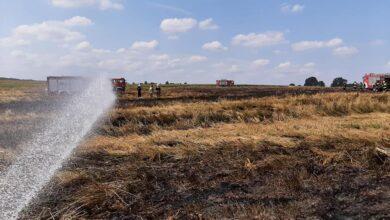 Photo of 13 zastępów strażaków walczyło z pożarem rżyska – ZDJĘCIA Z DRONA