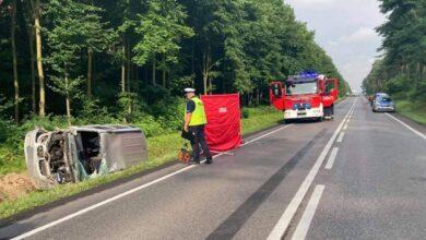 Photo of Śmiertelny wypadek na DK74 w Sulejowie. Starszego mężczyzny nie udało się uratować