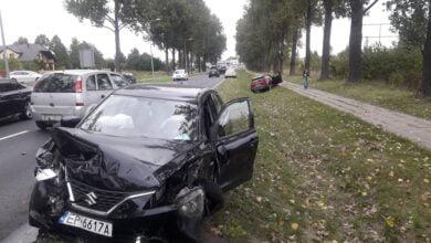 Photo of Zderzenie 3 samochodów na ulicy Łódzkiej