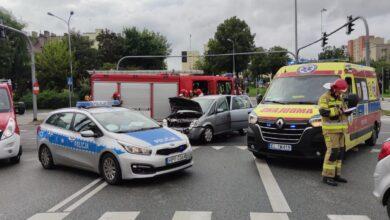 Photo of Po wypadku na skrzyżowaniu Piłsudskiego i Sienkiewicza, centrum miasta było zakorkowane