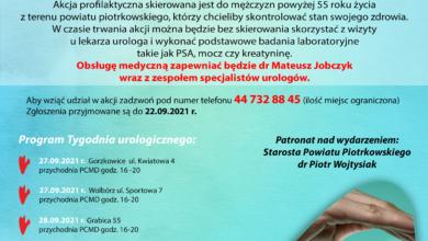 Photo of Bezpłatne badania urologiczne dla mieszkańców powiatu piotrkowskiego