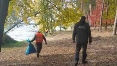 Photo of Osadzeni sprzątali okolice Zalewu Sulejowskiego. Zebrali 50 worków śmieci