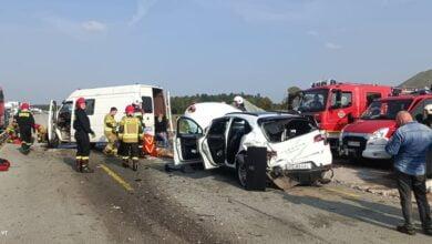 Photo of Cztery osoby ranne w wypadku na A1. Podczas interwencji zapalił się policyjny radiowóz – AKTUALIZACJA
