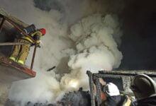 Photo of Pożar budynku gospodarczego we Włodzimierzowie. Ogień strawił wszystko